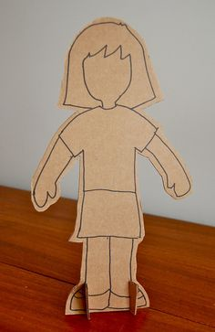 cardboard mannequins - could make one mannequin of each family member