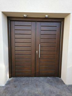 Wooden Double Doors, Wooden Front Door Design, Modern Wooden Doors, Double Door Design, Wooden Front Doors, Home Door Design, Door Design Interior, Double Doors Exterior, Wood Exterior Door