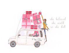 cute art print fashion illustration by illustrationsbyaimee