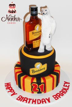 Bundaburg Rum Themed Birthday Cake