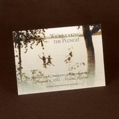 Taking the Plunge  wedding save the date cards