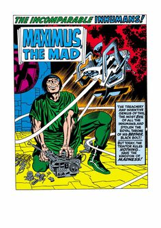 """ungoliantschilde: """" the Incomparable Inhumans, by Jack Kirby. """""""