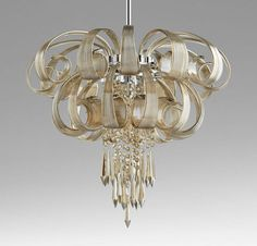 new horchow neimans murano style astor chandelier 9light glass crystal pendant