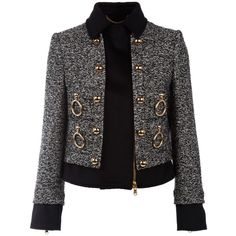 MOSCHINO J0529 5420 BLACK&WHITE VIRGIN WOOL/MOHAIR/POLYAMIDE KN09C04 (25 765 UAH) ❤ liked on Polyvore featuring outerwear, jackets, coats & jackets, chanel, women, zip jacket, moschino jacket, moschino, mohair jacket and black and white jacket