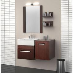 Rayne 20 In. Floating Vanity With Square Vitreous China Vanity Top In White And…