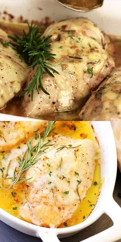 Baked Garlic Butter Chicken - Super quick, easy and SO delicious Garlic Butter C. - Baked Garlic Butter Chicken – Super quick, easy and SO delicious Garlic Butter Chicken with fresh - Garlic Butter Chicken, Baked Rosemary Chicken, Basil Chicken, Chicken Pasta, Cooking Recipes, Healthy Recipes, Quick Easy Chicken Recipes, Chicken Recipes Video, Meat Recipes