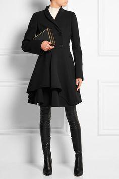 Alexander McQueen   Wool-blend scuba coat   NET-A-PORTER.COM