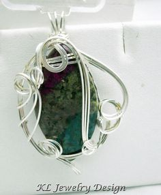 Jasper in Silver Pendant by KLJewelryDesign on Etsy, $18.50