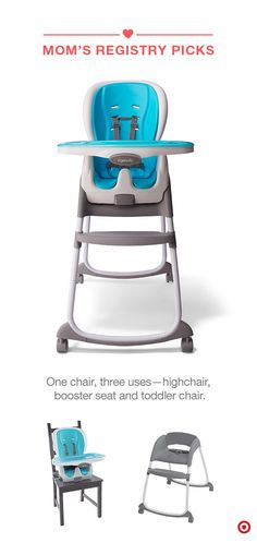 The only highchair your baby will ever need. Yeah, you read that right. The Ingenuity Trio 3-in-1 SmartClean highchair transitions from a full-sized highchair to a booster seat to a toddler chair. Convenient and comfy, this highchair features a soft, easy-to- clean foam seat, and can even seat two children at the same time. It's great for your growing family and your Baby Registry.