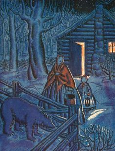 THE NIGHT WAS QUITE DARK - Helen Sewell, Little House in the Big Wood