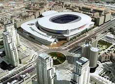 Soccer Stadium, Football Stadiums, Football Liverpool, Real Madrid, Valencia, World Cup 2022, Futuristic City, Beautiful World, Architecture Design