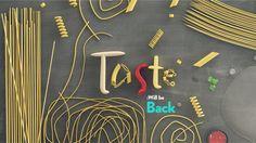 TASTE— Food Channel for FOX International Channels by Place Studio, via Behance