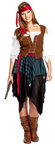 Womens Adult Sexy Carribean Pirate Bucaneer Sea Fancy Dress Costume Theme Outfit#CarribeanPirate#UK 10-12 by Trendy Fashion, http://www.amazon.ca/dp/B013L28JUG/ref=cm_sw_r_pi_awdl_N38fwbF6H5W3G