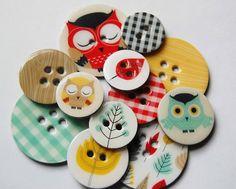 owl buttons.....buttonlicious!!!!