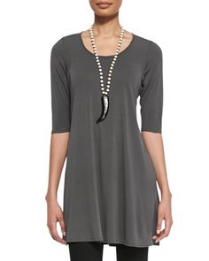 Half-Sleeve Silk Jersey Tunic  by Eileen Fisher at Neiman Marcus.