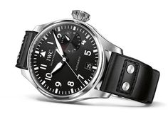 On The Wrist: The IWC Big Pilot Ref. 5009 | iW Magazine. IWC Big Pilot's Watch Specifications Reference: IW500912 Case: 46mm stainless steel, soft-iron inner case for protection against magnetic fields, engraved back Strap: Black calfskin Santoni strap Movement: IWC Caliber 51111 with Pellaton automatic winding, 7-day power reserve and display, date.