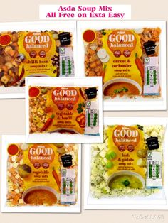 Soup mix packs from Asda all Syn Free on Extra Easy for those days when you are sick of chopping vegetables or have no time like me!