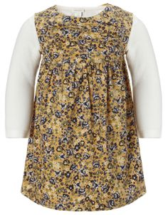 My Design Baby Lottie Cord Dress and Top Set | Yellow | Monsoon