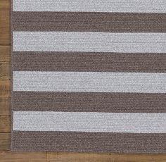 Striped Braided Wool Rug