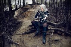 "pixalry: "" The Witcher Ciri Cosplay - by Love-Squad"" Cosplay Diy, Best Cosplay, Cosplay Girls, Cosplay Costumes, Female Cosplay, Awesome Cosplay, Cosplay Ideas, Costume Ideas, The Witcher Books"