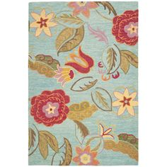 Bring a touch of the garden into your home with the blossoms collection. An intricate floral design with updated fresh colors and dense, thick wool pile highlight this handmade rug.
