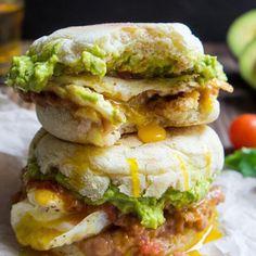 Healthy Breakfast Sandwiches   Huevos Rancheros Breakfast Sandwich - Fitnessmagazine.com