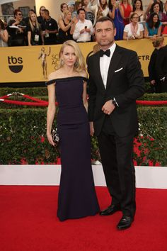 Naomi Watts and Liev Schreiber 2015 Screen Actors Guild Awards Red Carpet