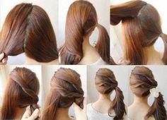 3 twist Pony tail