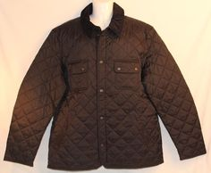 New Mens Barbour Quilted Jacket Black Size XL #Barbour #BasicJacket