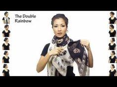 ▶ 25 способов как завязать платок - YouTube