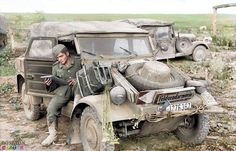 Volkswagen Type 82 Kübelwagen (literally, tub or bucket car) WH-1276387 'Feldgendarmerie' on the Eastern Front during' Opera­tion Cita­del', June 21, 1943. In Janu­ary 1938 the Wehr­macht approached...