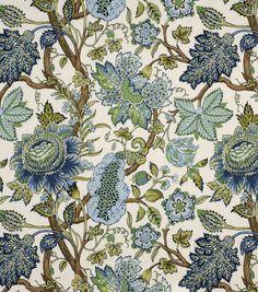 Home Decor Fabric-Robert Allen St. Etienne Lapis Fabric & Print Fabric at Joann.com
