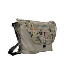 Shop Utamaro's Japanese Art messenger bag created by PizzaRiia. Carpet Bag, Pack Your Bags, Custom Bags, My Baby Girl, Beautiful Bags, Purse Wallet, Luggage Bags, Bag Making, Purses And Handbags