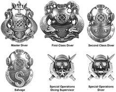 Navy Diving Pins