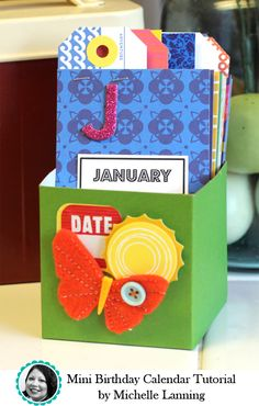 American Crafts Mini Birthday Calendar Tutorial