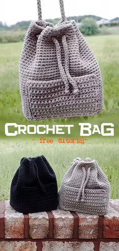 Learn how to crochet this bag. diy Crochet Bag Learn how to crochet this bag. diy Crochet Bag Record of Knitting Yarn rotating, weaving and stitching job. Diy Crochet Bag, Crochet Backpack, Crochet Purses, Cute Crochet, Crochet Hooks, Knit Crochet, Backpack Pattern, Modern Crochet, Crochet Stitches