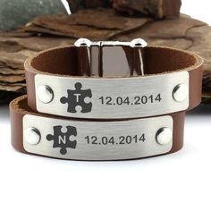 Personalized Bracelet Puzzle Bracelet puzzle piece Bracelet