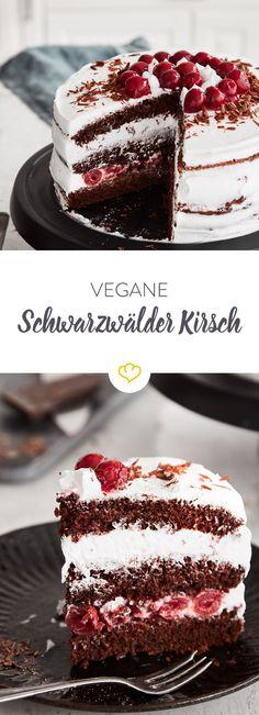 Ein Klassiker, der auch auf der veganen Kaffeetafel nicht fehlen darf: Diese Schwarzwälder Kirschtorte ist kinderleicht zubereitet und gelingt sicher!