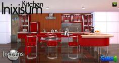 Jom Sims Creations: Inixium kitchen • Sims 4 Downloads