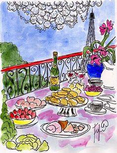Fifi Flowers Painting du Jour Gallery: tablescapes