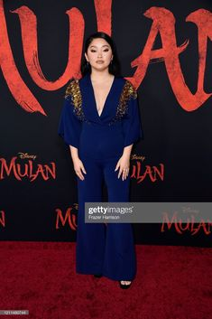 """Lana Condor attends the premiere of Disney's """"Mulan"""" at Dolby Theatre on March 2020 in Hollywood, California. Get premium, high resolution news photos at Getty Images Lara Jean, Ca Usa, Glamorous Dresses, Celebrity Look, Red Carpet Dresses, Still Image, In Hollywood, Ps, Theater"""