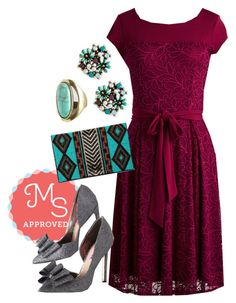 """""""Charm Committee Dress"""" by modcloth ❤ liked on Polyvore featuring Betsey Johnson"""