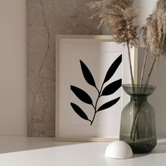 Printable Black Leaf Wall Art Print.   #wall #art #diy #prints #bedroom #living #room #boho #bohemian #large #printable #prints #minimal #minimalist #feminine #female #abstract #etsy #agatacreate #one #line #art #design #creative #home #plant #ideas #inspiration #eucalyptus #leaf Leaf Wall Art, Leaf Art, Wall Art Decor, Wall Art Prints, Pencil Art Drawings, Abstract Drawings, Artwork Design, Wall Art Designs, Love One Another Quotes