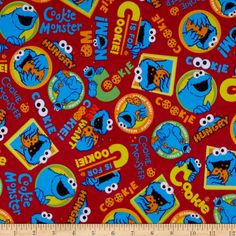 EXCLUSIVE MINKY Sesame Street C Is For Cake Red - Fabric.com