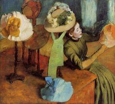 The Athenaeum - The Millinery Shop (Edgar Degas - 1885)