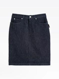 jupe courte bleue en jean | agnès b. Blue Denim Skirt, Black Denim Shorts, Jeans, Mini Skirts, Fashion Outfits, Collection, Denim Skirt, Blue, Woman