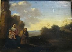Beautiful Century Italian School Painting - Rest on the Flight into Egypt School Painting, List Of Artists, Old Master, Landscape Art, 18th Century, Worlds Largest, Egypt, Rest, Paintings