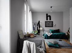 Green and grey palette - via Coco Lapine Design blog