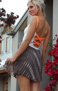 Neon & pretty pleats