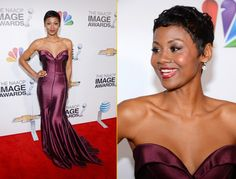 2013 NAACP Image Awards:  Emayatzy Corinealdi attends the 44th NAACP Image Awards at The Shrine Auditorium in Los Angeles, California.